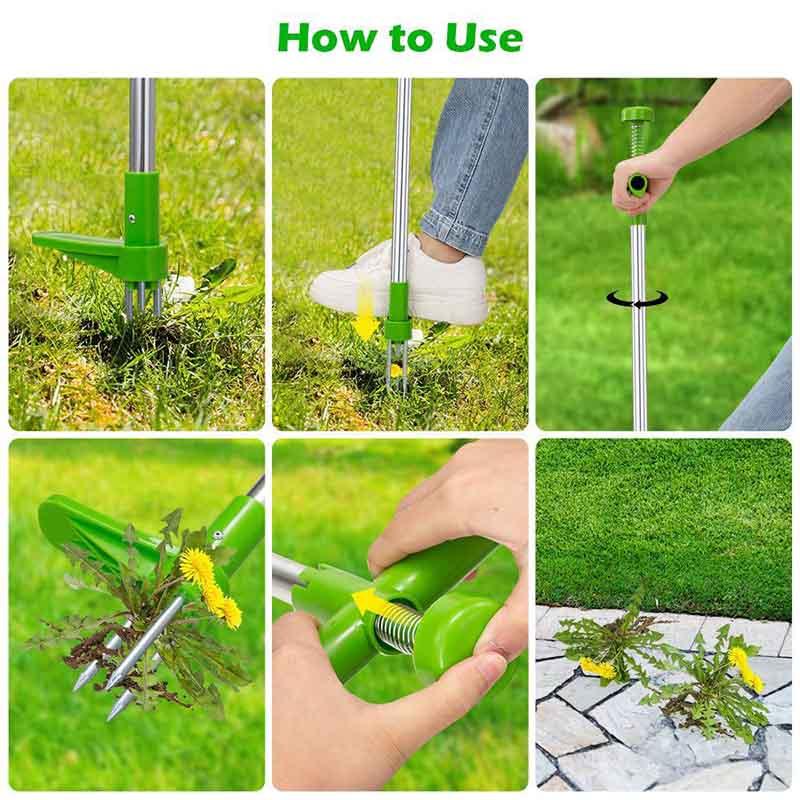 Ilgų rankenų piktžolių valiklis, patvarus sodo vejos ravėjimas, - Sodo įrankiai - Nuotrauka 6