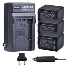 3pc VW-VBT380 VW VBT380 Li-ion Batterie + Chargeur De Voiture pour Panasonic HC-V180GK HC-V380GK HC-W580GK HC-W580MGK HC-V110 HC V130 160