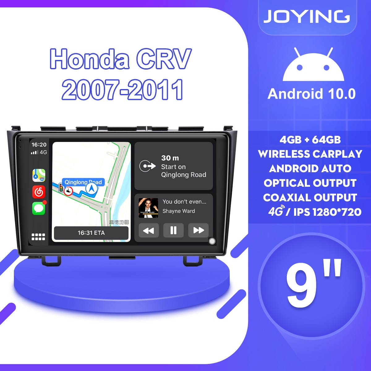 AliExpress - 9″Head unit Android 10 Car Radio Stereo GPS Navigation For Honda CR-V CRV 2007 2008 2009 2010 2011Multimedia Player Carplay SWC