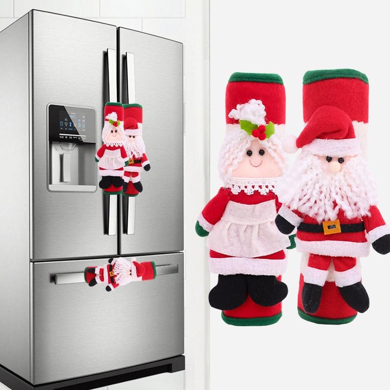 Новый Рождественский Декор, холодильники, перчатки, домашний декор, искусственная микроволновка, холодильник