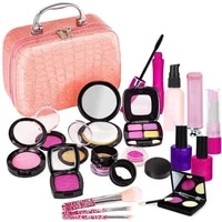 simulation girl makeup toy set pretend play cosmetic toy kit pink makeup set princess hairdressing toy birthday gift