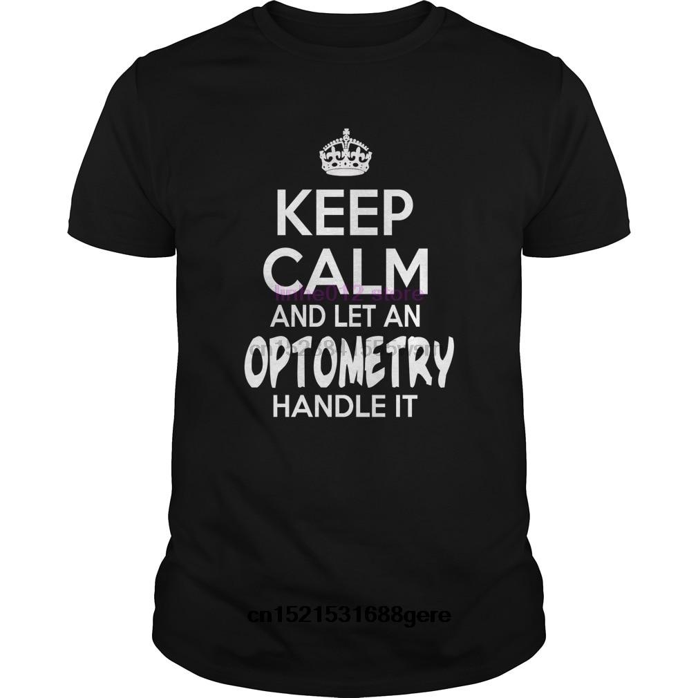 2019 divertida camiseta optometría mantener la calma Optometría-teeforoptometría camiseta hombres camiseta