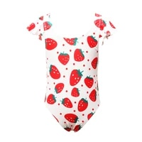 childrens swimsuit cute strawberry fruit printed girl swimsuit student swimsuit teenager swimsuit girl one piece swimsuit