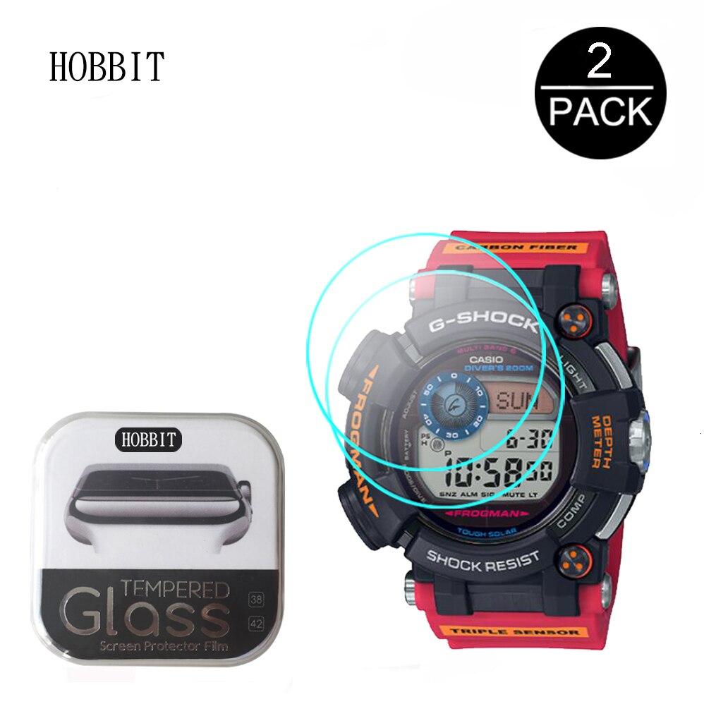 2 uds 2.5D vidrio templado para Casio G-SHOCK MTG-B1000DCM GAW-100AR DW-6900MISH19 AWG-M100SAR GWF-D1000ARR claro Protector de pantalla