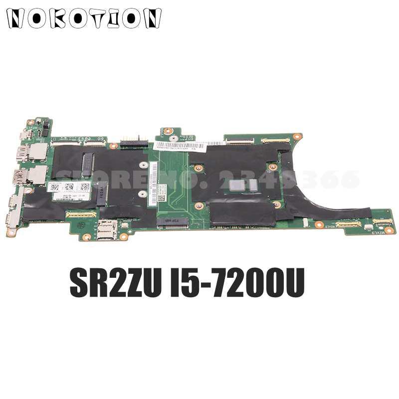 NOKOTION لينوفو ثينك باد X1C اللوحة الأم للكمبيوتر المحمول (الكربون 2017) SR2ZU I5-7200U وحدة المعالجة المركزية 8G RAM 01AY064 DX120 NM-B141