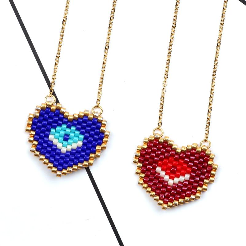 FAIRYWOO Gothic Eye Necklace Christmas Gifts For Men Miyuki Bead Necklaces E Girl Jewelry Husband Gift Gargantillas Acero Mujer