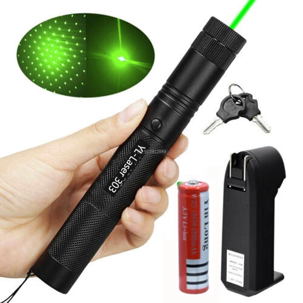 Высокая Мощность лазерная указка 303 перезаряжаемые военные сжигание фонарь Мощность Фул 100mw зеленая лазерная ручка светильник кошка Laserpointer...