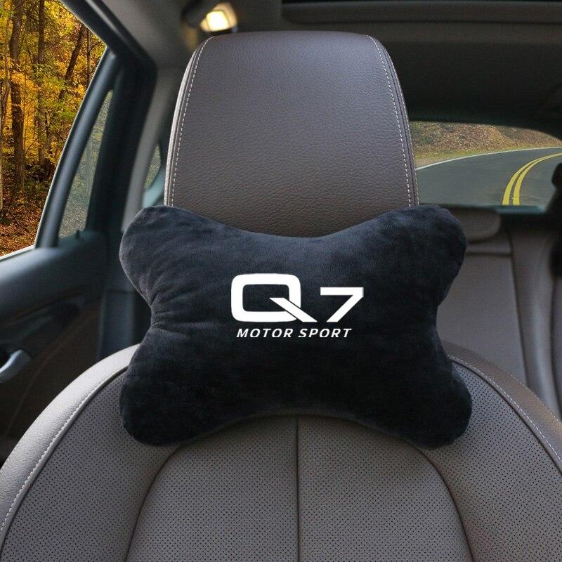 1 unids/set asiento cuello almohada Auto reposacabezas apoyo coche reposacabezas para Audi Q7 A4L A6L C5 C6 RS4 RS5 TT accesorios de coche