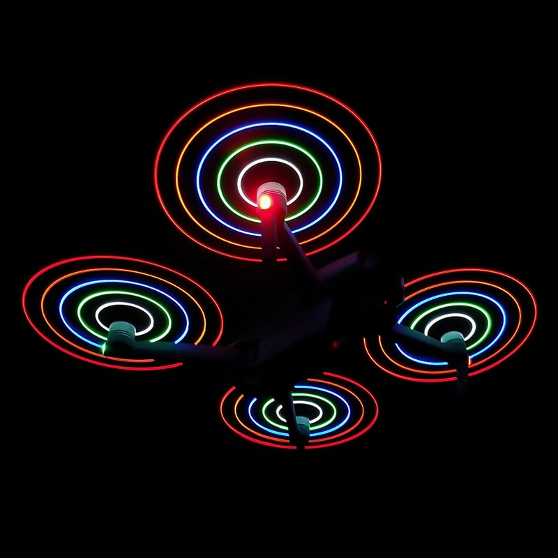 مافيك الهواء 2S LED فلاش المروحة 7238 للطي قابلة للشحن مراوح ليلة تحلق مراوح ل DJI الهواء 2 ملحقات طائرة بدون طيار