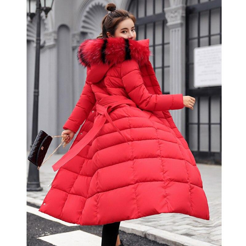Женская зимняя куртка, модная длинная куртка, Новое поступление 2020 года, теплая утепленная элегантная женская длинная парка с хлопковой под...