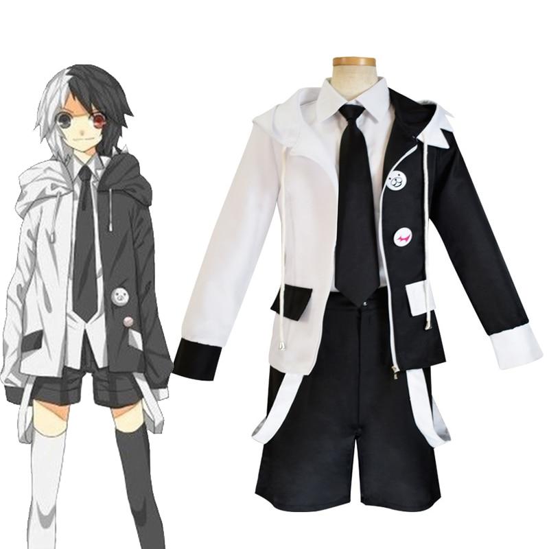 Anime Danganronpa Monokuma Cosplay disfraces Dangan Ronpa chaqueta falda para mujeres niñas niños Halloween Navidad uniforme de fiesta