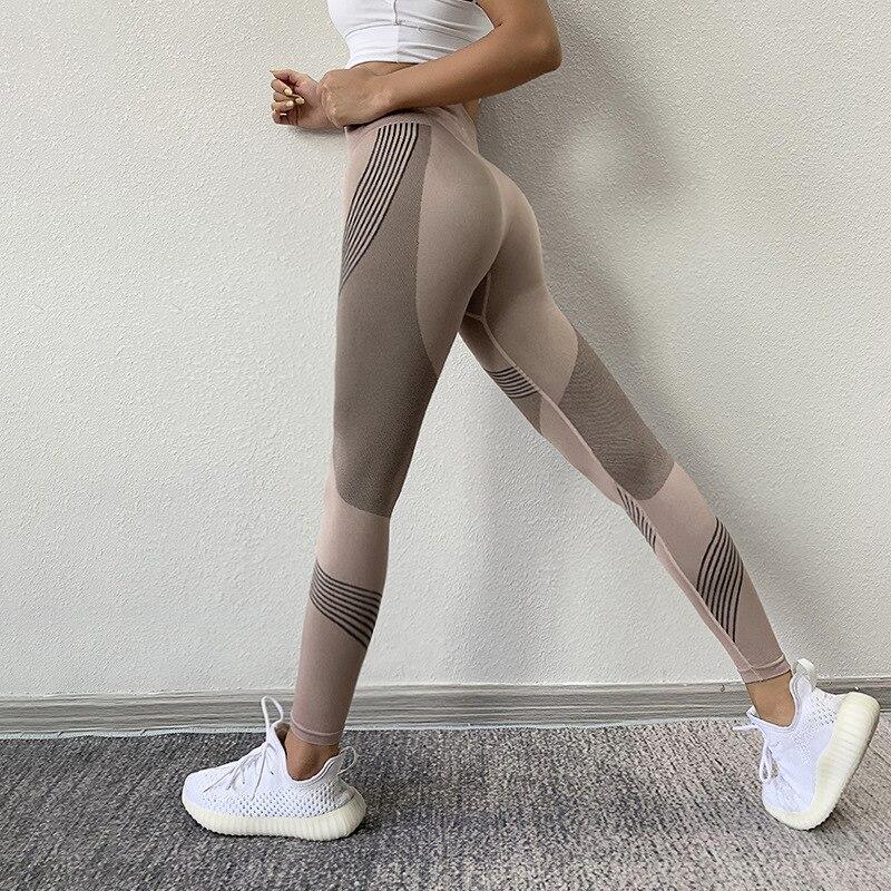 Бесшовные Леггинсы для йоги, брюки для йоги, женская спортивная женская одежда для фитнеса, спортивные брюки, женская спортивная одежда