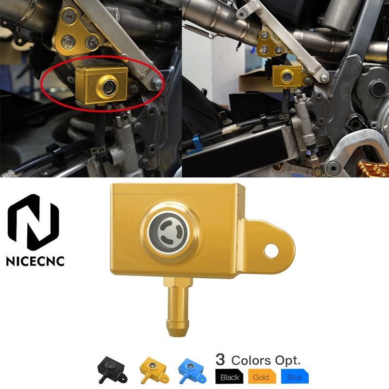 NICECNC Rear Brake Master Cylinder Reservoir Cover For Suzuki DRZ400S DRZ400SM 2000-2020 Fluid Cap Aluminum