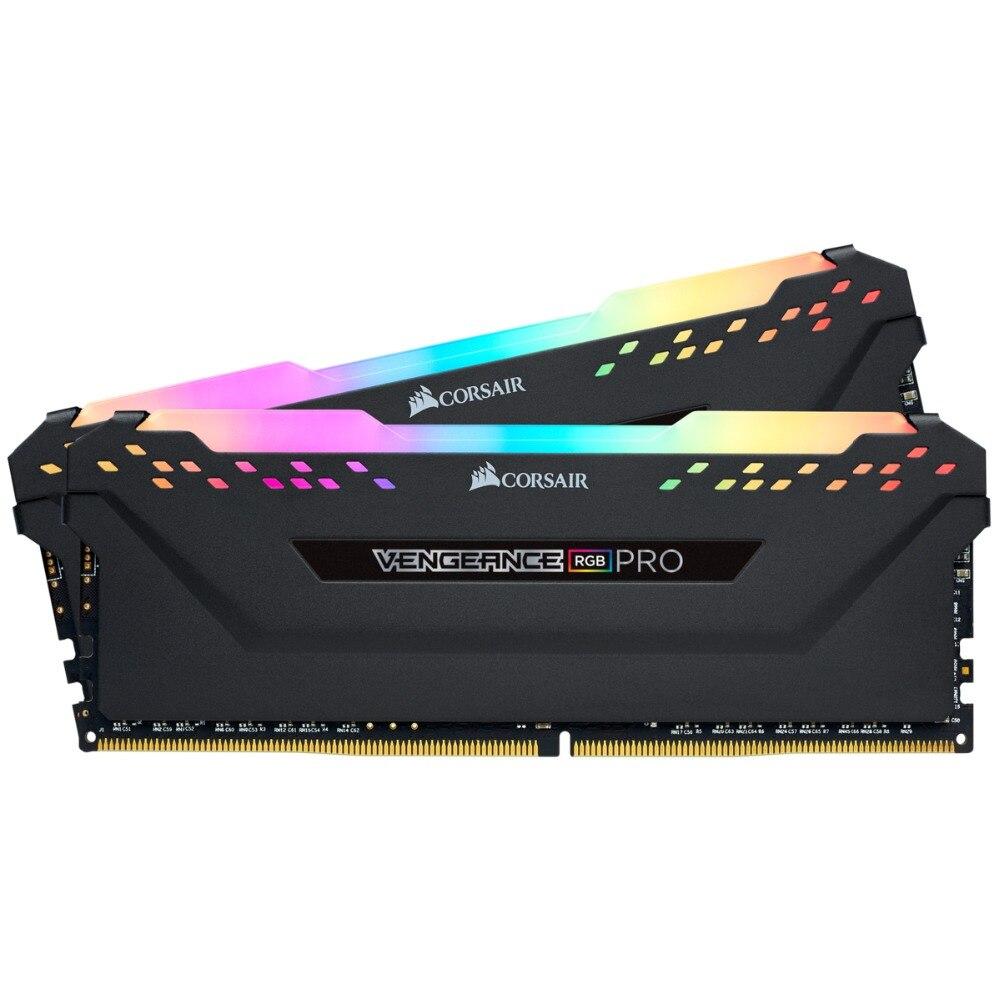 CORSAIR Vengeance RGB PRO-ذاكرة عشوائية 8 جيجابايت, وحدة ذاكرة 16 جيجابايت ، 2 × 8 جيجابايت ، ثنائية القناة ، DDR4 ، 16 جيجابايت ، 32 جيجابايت ، PC4 ، 3000 ميجاهرتز ، ...