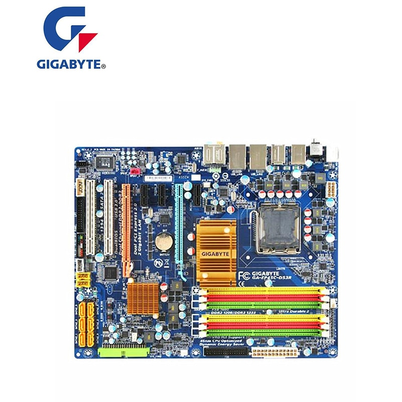 Для GIGABYTE GA-EP45C-DS3 P45 материнская плата LGA 775 DDR2 DDR3 для Intel EP45C-DS3 настольная материнская плата SATA II PCI-E X16 б/у