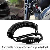 universal motorcycle helmet lock quick lock telescopic cable anti theft password lock for motorbike