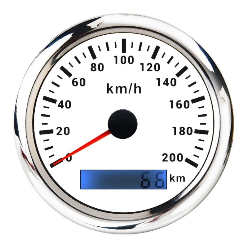عداد السرعة 9-32V ، GPS ، 85 مللي متر ، 200 كم/ساعة ، عداد المسافات مع إضاءة خلفية حمراء ، مناسب للسيارات والشاحنات وسيارات الدفع الرباعي