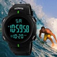 Mens Watches Fashion Men LED Camping Out Digital Quartz Military Luxury Sport Date Sport Watch Waterproof Relogio Clock reloj Q
