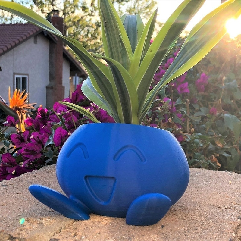 Oddish Planter Oddish Flower Succulent Succulent Flower Pot Plant Pot Planter Pokemon pot Dropshiping