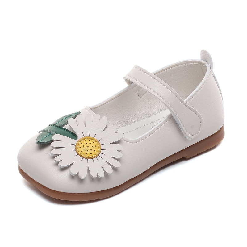 kids shoes 2020 new spring girls fashion genuine leather shoes princess party flats children black mary jane footwear flower Spring and Autumn New Girls Princess Shoes Girls Soft Sole Leather Shoes Flower Children's Shoes Casual Breathable Girls Flats