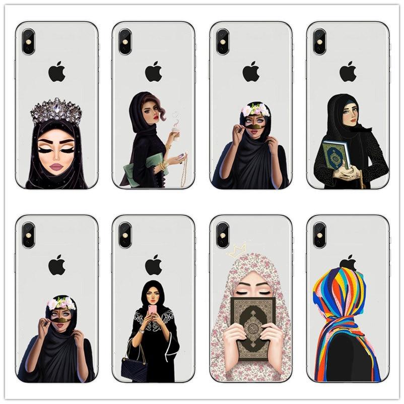 Мусульманские исламские глаза для девочек арабский хиджаб силиконовый чехол для телефона для iPhone 11 pro max X Xr xs 8 8Plus 7 7Plus 6 6splus мягкий чехол