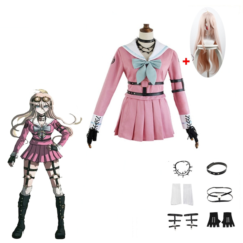 Disfraz de Cosplay Danganronpa V3: matar a Harmony Iruma Miu conejo uniforme...