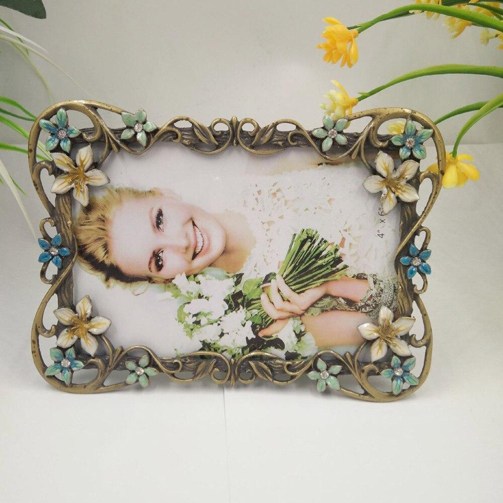 Cadre de téléphone en métal rétro européen cadre Photo Vintage maison bureau cadre Photo ornement mariage anniversaire décoration ornement