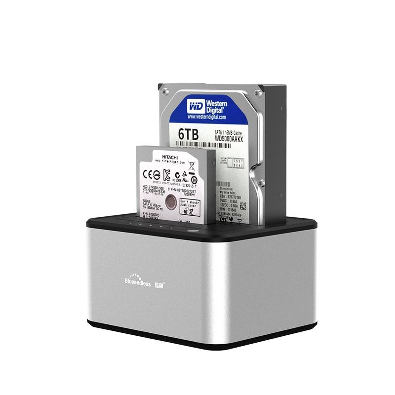 Hdd Enclosure SSD Case 2-Bay SATA Hdd Docking Station 3.5