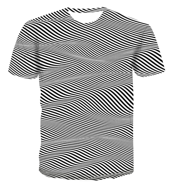 2020 New popular Psychedelic design 3D printing T-shirt summer Top Men's personality versatile dizzy s-6xl