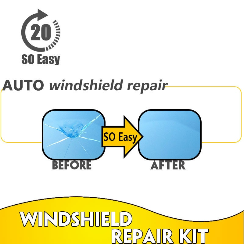 Car Window Glass Crack Chip Resin Windscreen Windshield Repair DIY Tool Kit Set S55