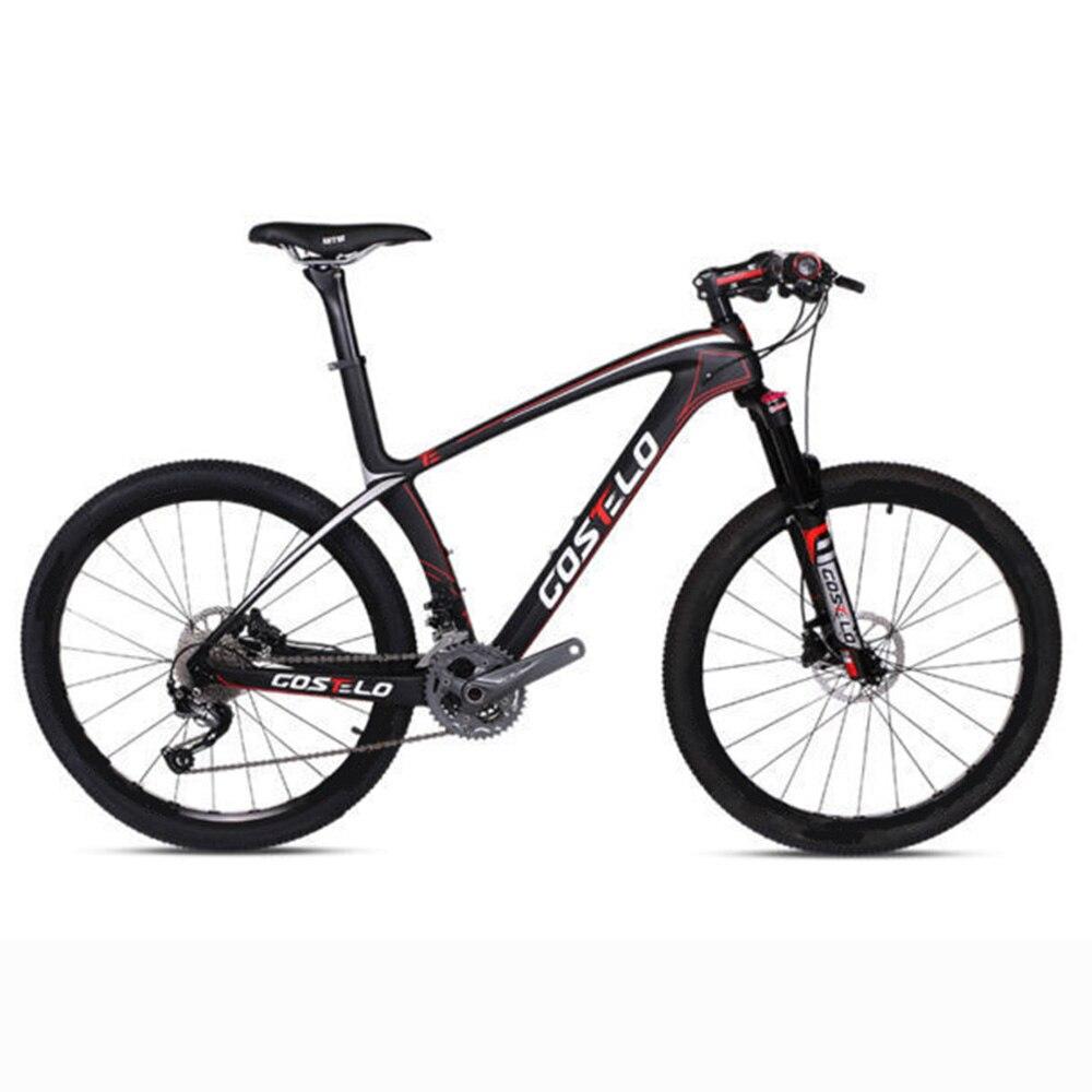 Marco de bicicleta de montaña Costelo 9,9, bicicleta de montaña de carbono, marco de bicicleta de montaña 27,5 650B, grupo original, ruedas, sillín, neumático de barra