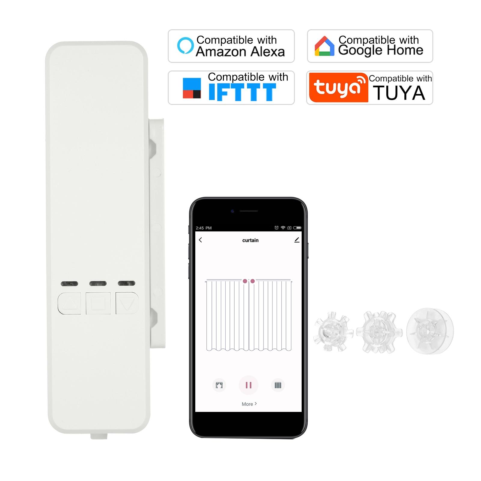 WiFi Tuya الذكية لتقوم بها بنفسك بمحركات سلسلة الستائر الدوارة الظل مصراع محرك المحرك ل أليكسا جوجل App التحكم الصوتي الستار المحرك