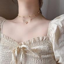 Estética borla con varias capas de amor colgante de corazón collares Collar mujer Sur kpop para mujeres Vintage gargantillas doradas Collar