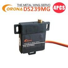 Servo daile mince numérique de DS-239MG de 4 pièces Corona (vitesse en métal) 4.6kg / 0.15sec / 22g