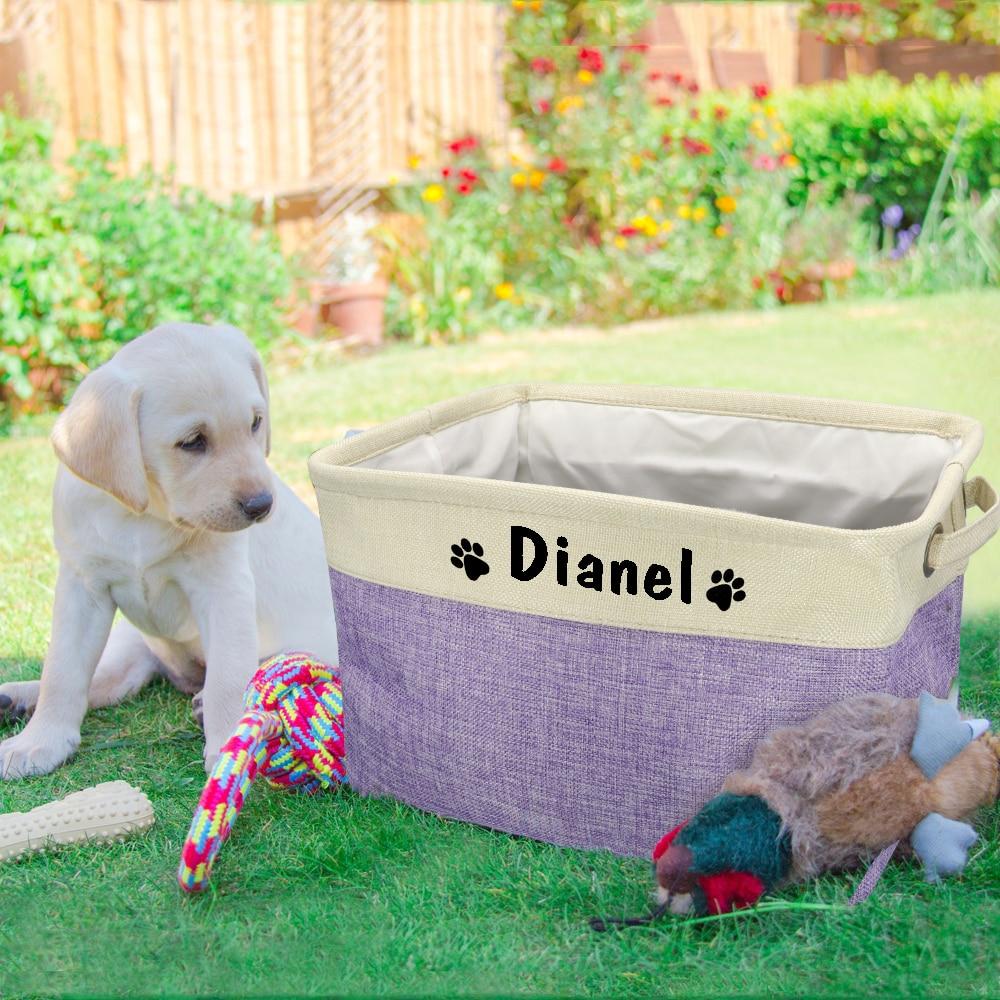 Bakul penyimpanan anjing peliharaan diperibadikan beg kanvas anjing - Produk haiwan peliharaan - Foto 5