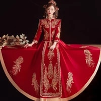 traditional beading sequins embroidery chinese cheongsam couple wedding suit elegant bride marry dress qipao %d0%ba%d0%b8%d1%82%d0%b0%d0%b9%d1%81%d0%ba%d0%b0%d1%8f %d0%be%d0%b4%d0%b5%d0%b6%d0%b4%d0%b0