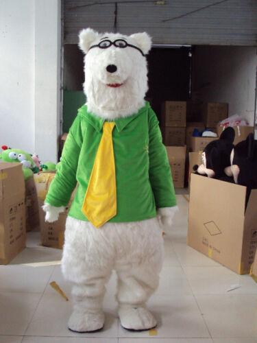 الدب القطبي زي التميمة الدعاوى لعبة حفلة فستان الكبار تأثيري الزي الملابس @ الحدث للجنسين الكرتون الملابس تأثيري هالوين