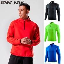 Outdoor Sports Coat Men Fitness Running Long Sleeves Autumn Winter Hooded Print Sweatshirt Gym Train