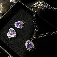 new irregular heart stud earring retro luxurious temperament stud earring for women girls fashion jewelry