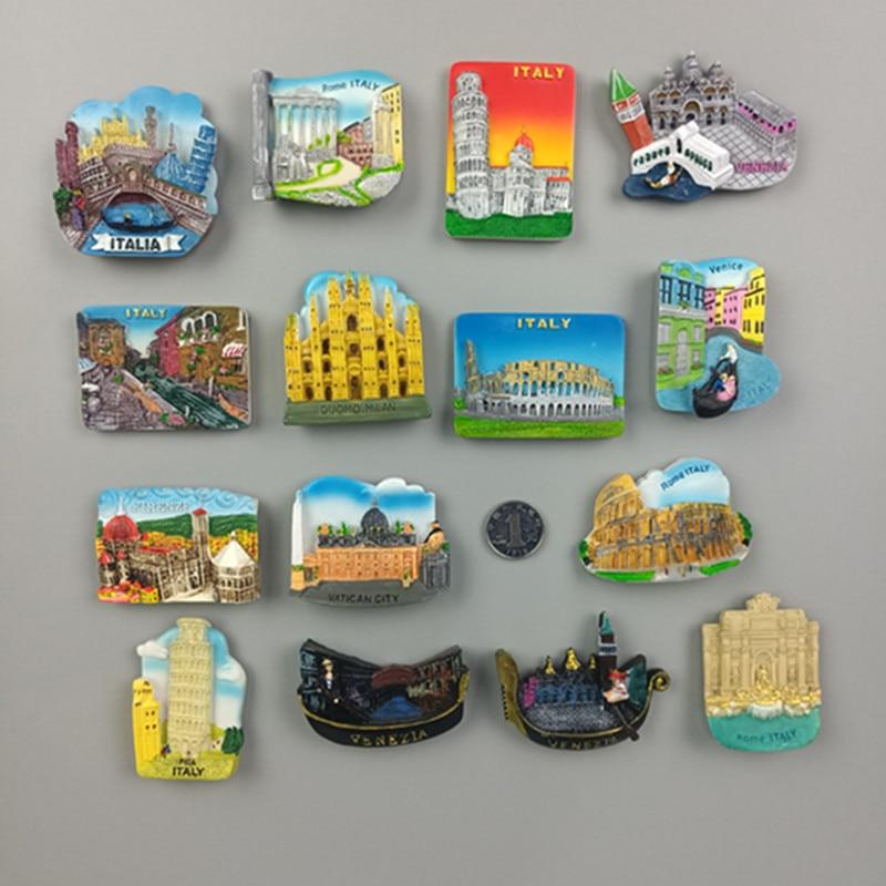 Ímãs de geladeira magnética do mundo, ímãs de geladeira veneza milão itália roma florência geladeira adesivo mundo de viagem lembrança magnético