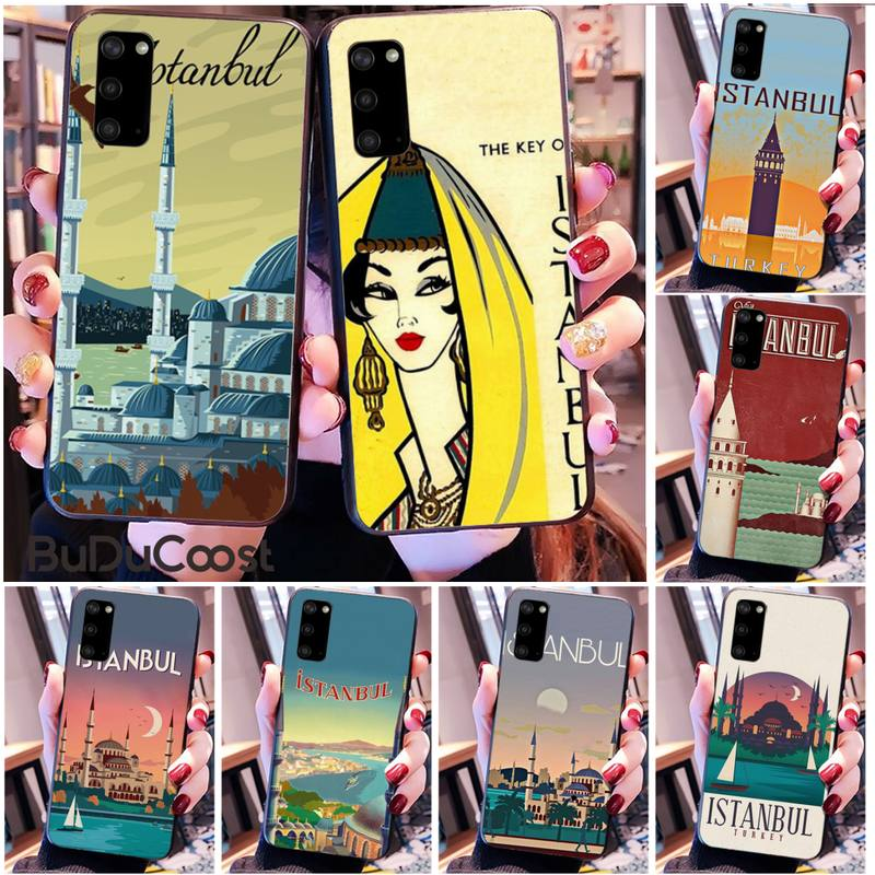 Turkey Istanbul travel poster Phone Case for Samsung S20 plus Ultra S6 S7 edge S8 S9 plus S10 5G