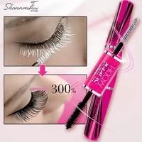 mistine 2 in 1 4d black eyelash mascara silk fiber lash mascara waterproof extension dense thick lengthening curling eye lashes