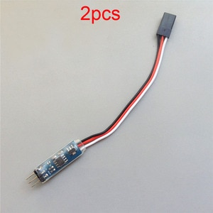 Комплект из 2 предметов, мини сигнал сервопривода проблесковый маячок кабель инвертора 3,6 V-16V изменение руля Шестерни роторное направление ...