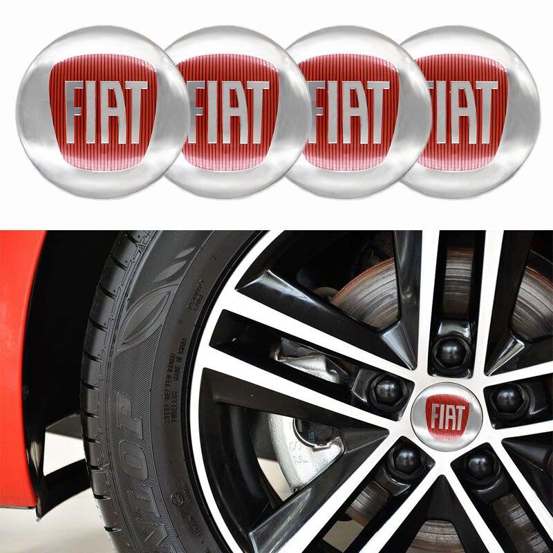 4 шт. 56 мм Центральная втулка колеса автомобиля крышки эмблемы наклейки для FIAT-логотип, автомобильные аксессуары, модифицированных хаб крыш...