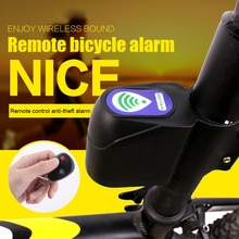 Anti-theft Bike Lock Alarm Cyclings Security Wireless Remote Control Vibration &T8