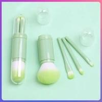 portable 4 in 1 face makeup brushes makeup tools makeup brush set foundation brushes for business trips makeup kit