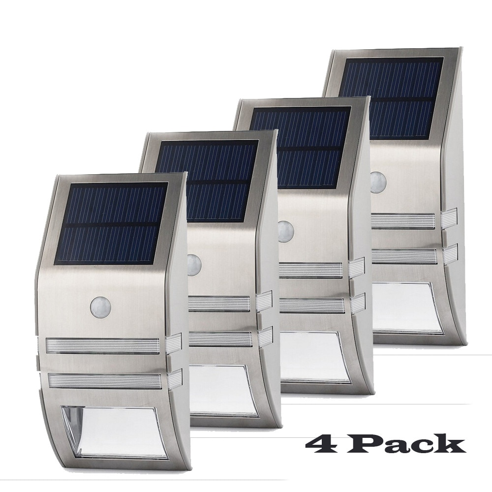 4 Sets LED Solar Licht PIR Motion Sensor Wand Licht Außen Energy Saving Street Garten Yard Sicherheit Wasserdichte Solar Lampen