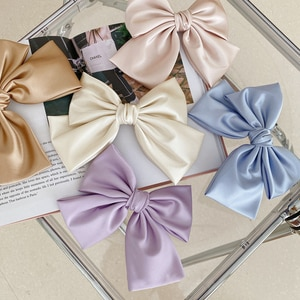 New Solid Color Big Bow Knot Hairpin Women Girls Hair Clip Pin Barrette Accessories Hairclip Ornaments Headdress Headwearft