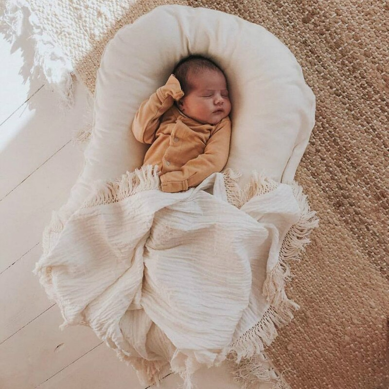 75*45cm Baby Lounger Baby Crib Co Sleeper Bed Baby Nest Toddler Bed Cuna Bebe Baby Nursery Swaddle Blanket