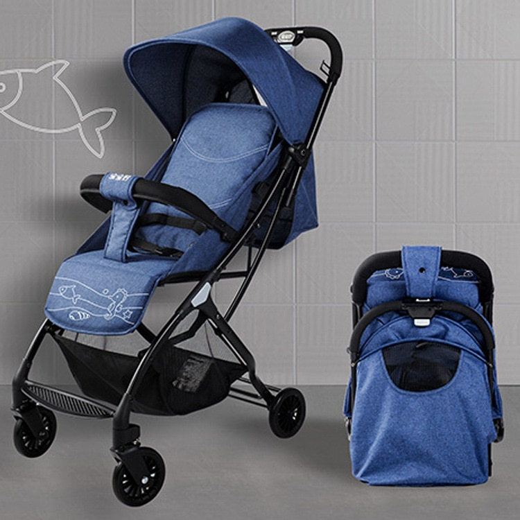 Children's Portable Baby Can Sit and Lie In The Baby Pocket Car, and Push The Hand To Push and Fold baby  car seat